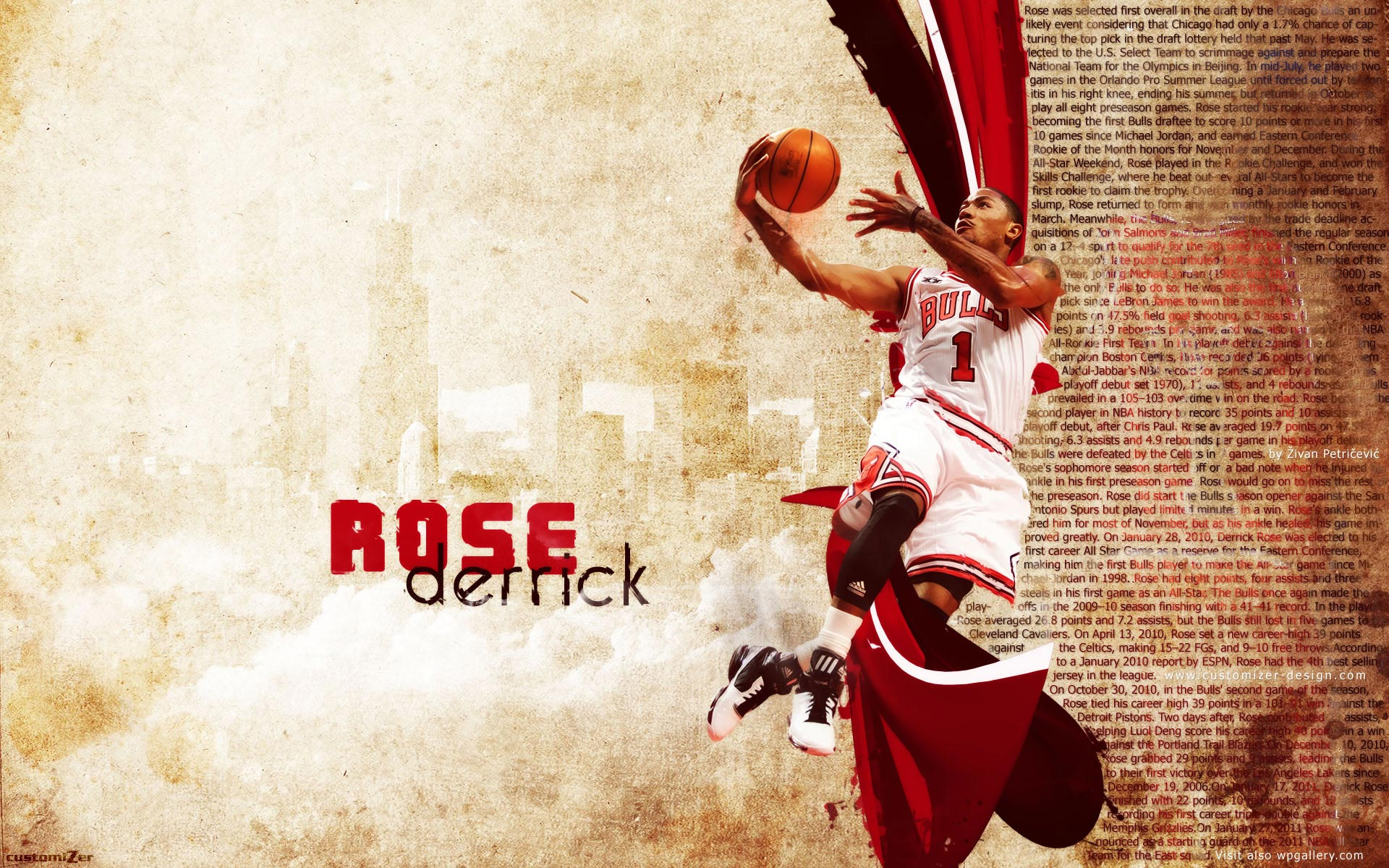 97cf18ed66d1 Derrick Rose 2011 Widescreen Wallpaper