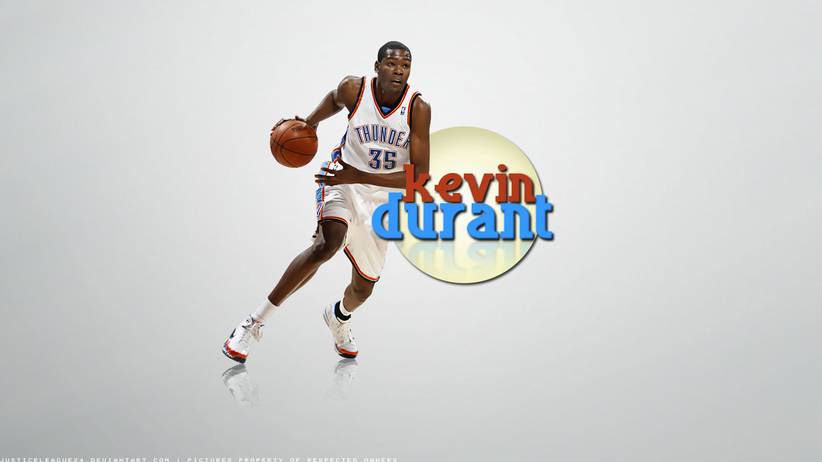 widescreen wallpaper of Kevin Durant who became youngest leading scorer