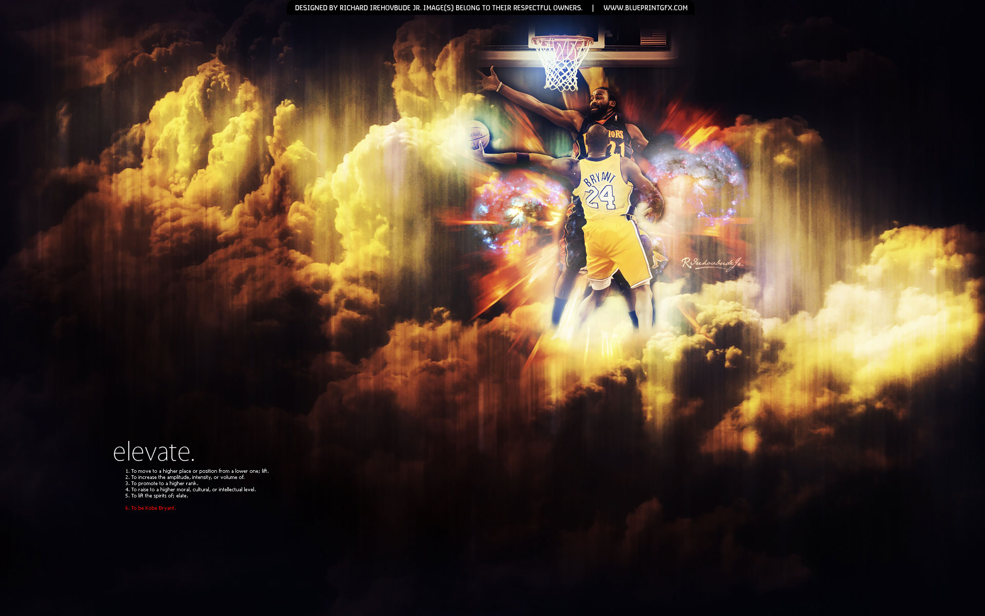 Next is widescreen wallpaper of Kobe Bryant scoring over Frenchman Ronny