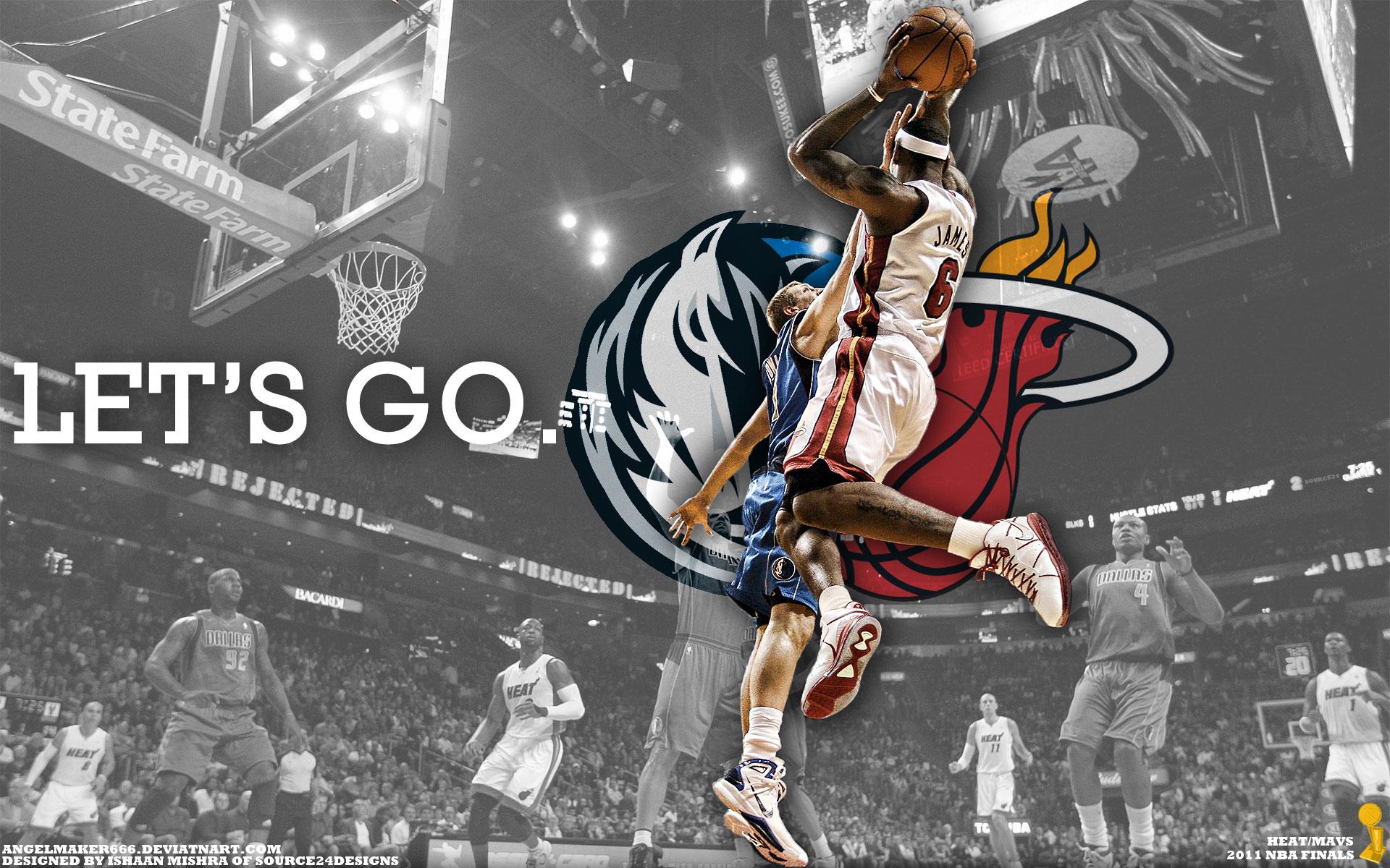 LeBron Vs Dirk 2011 NBA Finals Widescreen Wallpaper