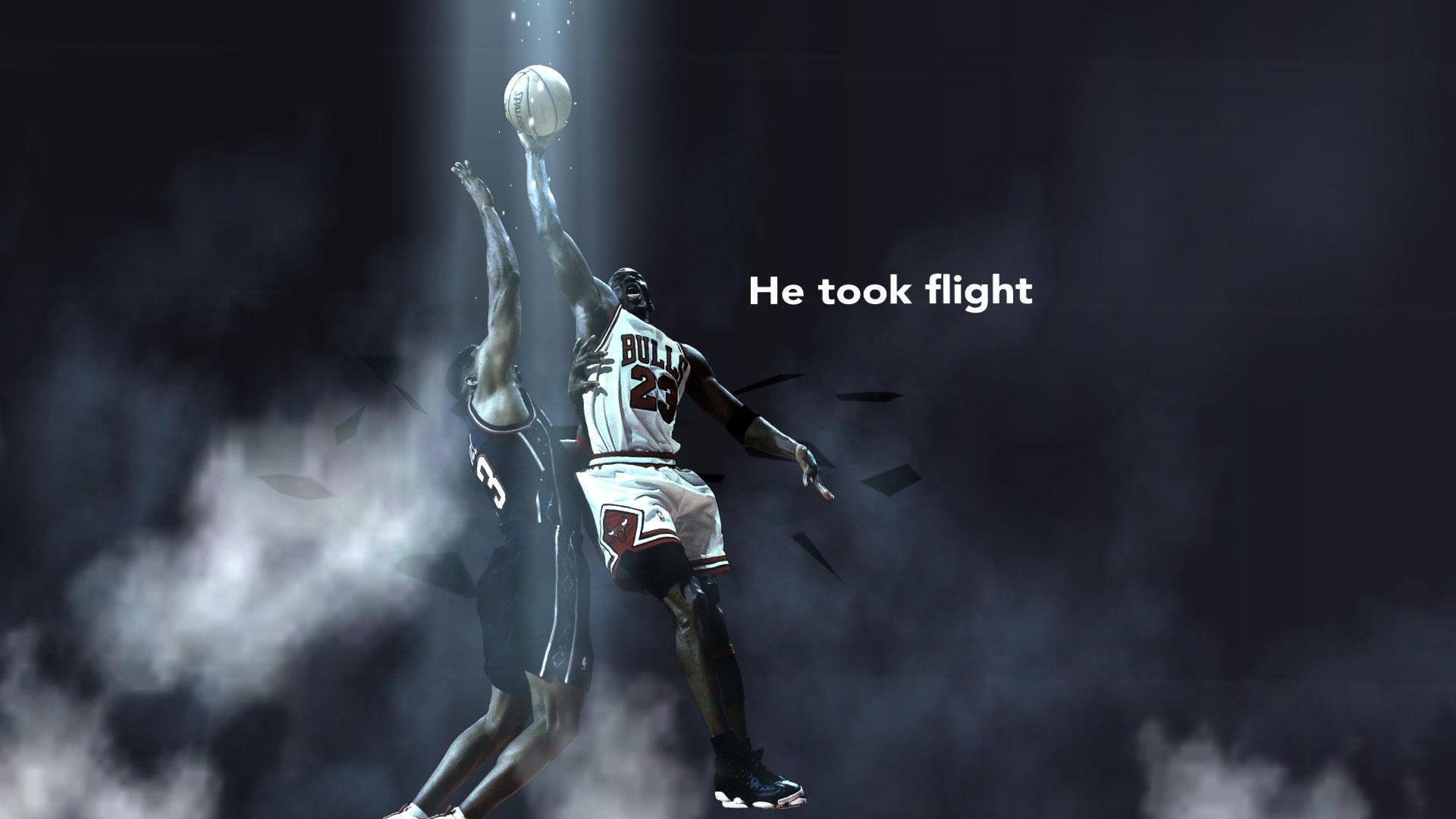 Michael Jordan Playoffs 98 Dunk Over Gill Widescreen Wallpaper