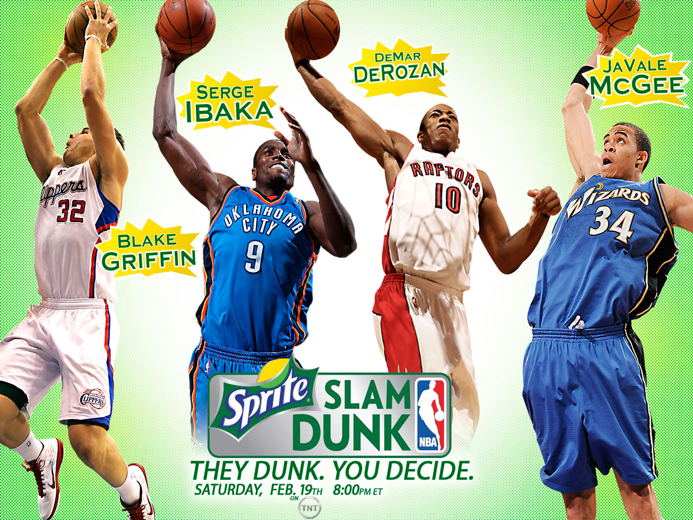 Blake Griffin 360 Slam Dunk Contest Widescreen Wallpaper