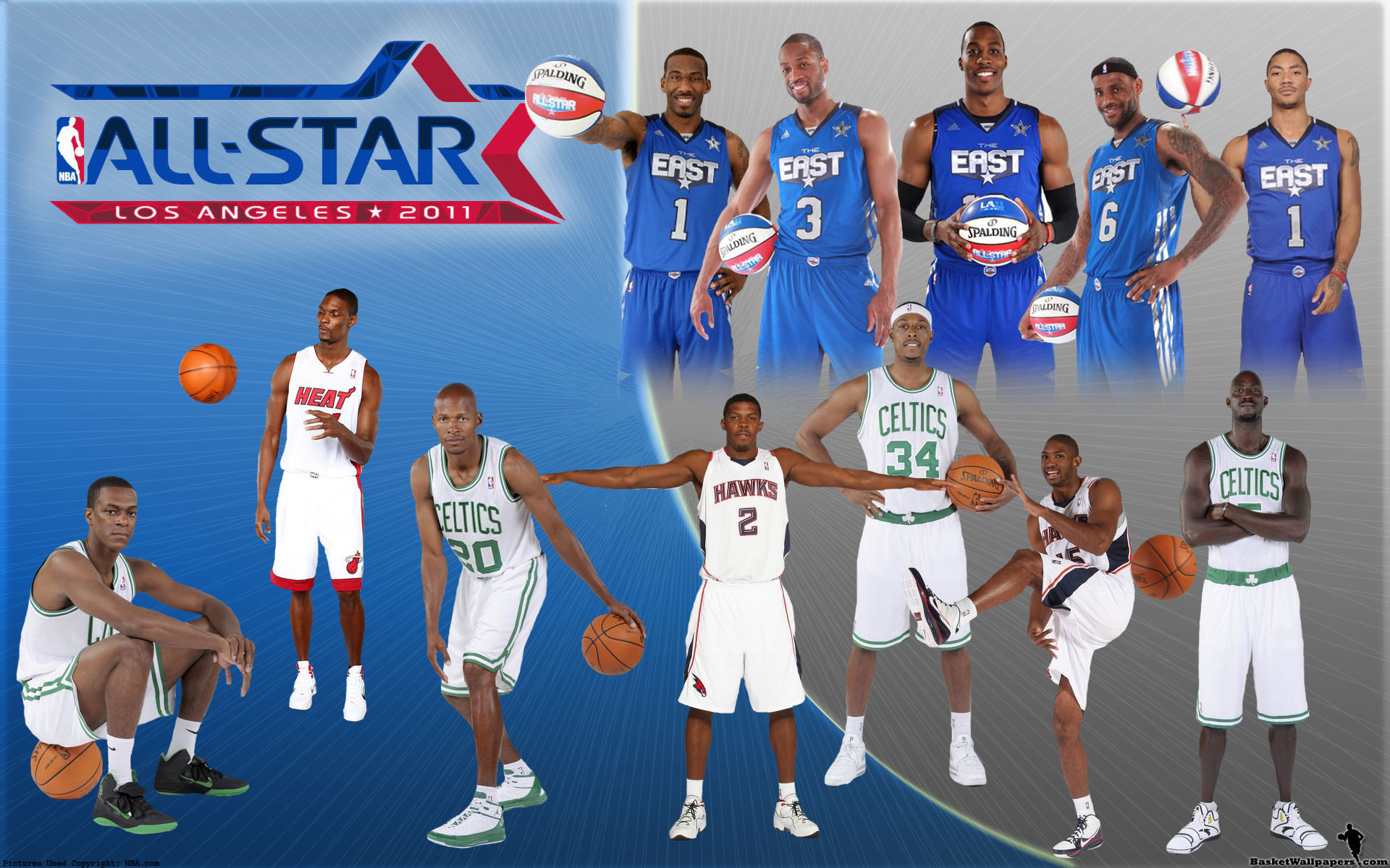 NBA All-Star 2011 Eastern Conference Team Widescreen ...