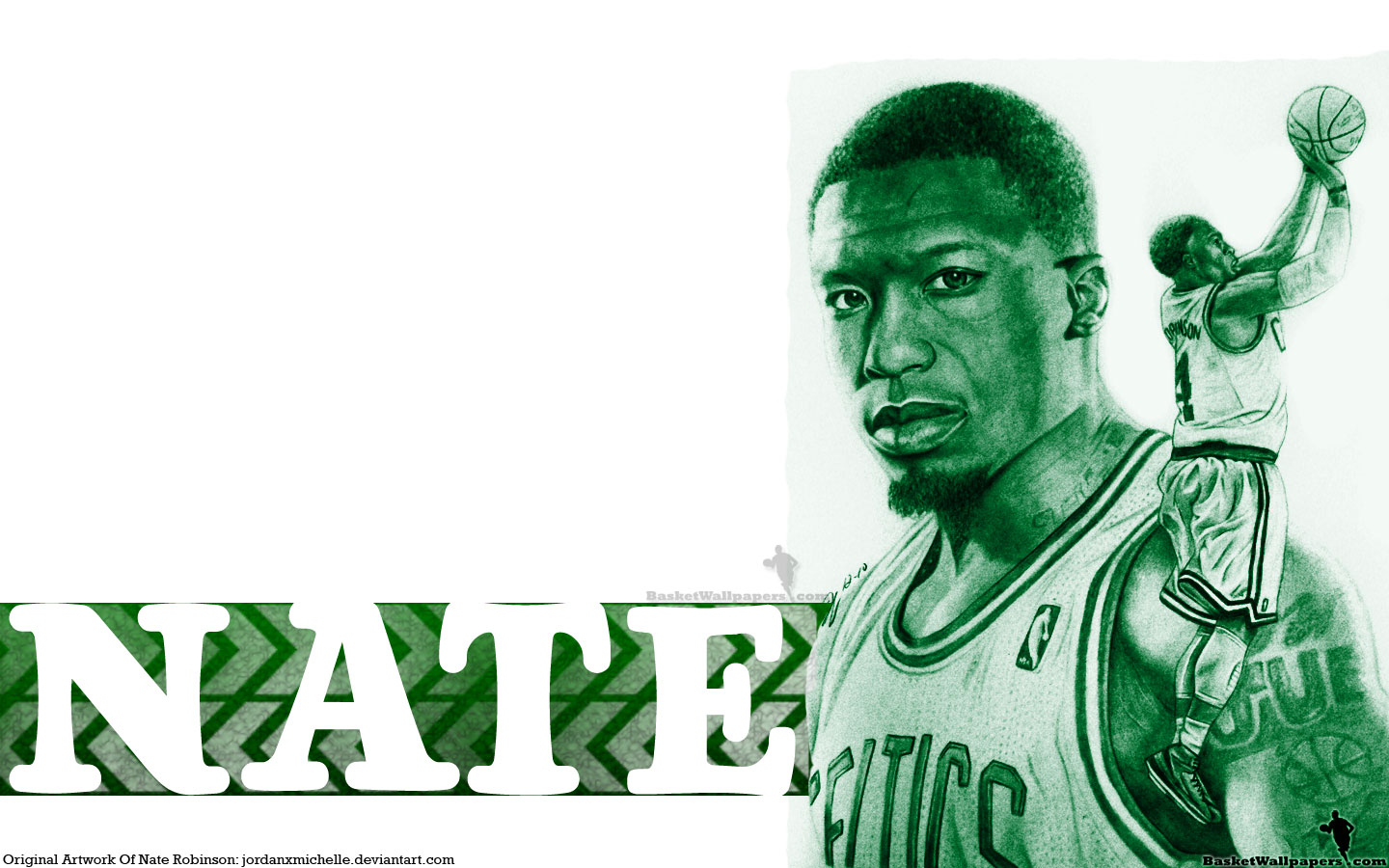 Nate Robinson Drawn Widescreen Wallpaper - Basketball Wallpapers