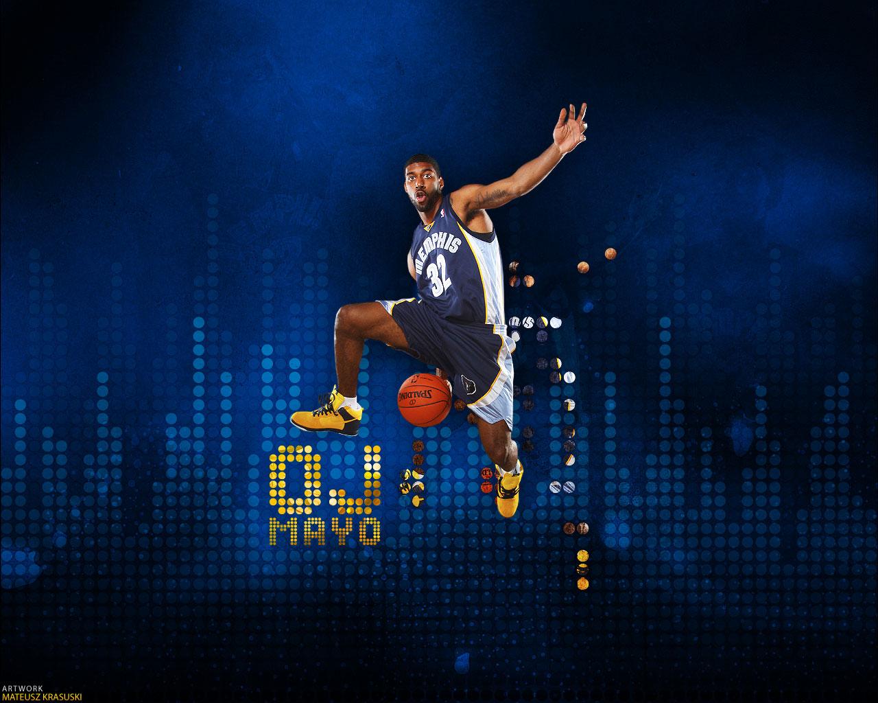 O J Mayo Slam Dunk Wallpaper Basketball Wallpapers At