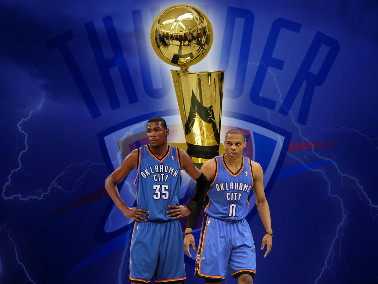 Oklahoma City Thunder NBA Trophy