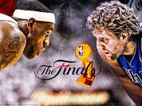 2011 NBA Finals Heat Mavs Widescreen Wallpaper
