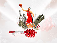 Andrea Bargnani Raptors Widescreen Wallpaper