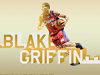 Blake Griffin LA Clippers Dribbling Widescreen Wallpaper