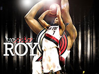 Brandon Roy Blazers Shooting Wallpaper