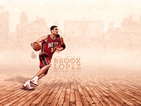 Brook Lopez Nets Widescreen Wallpaper