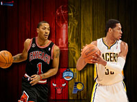 Bulls vs Pacers 2011 NBA Playoffs Widescreen Wallpaper
