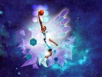 CP3 Layup In Space Widescreen Wallpaper