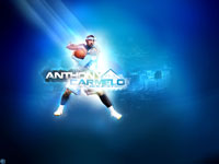 Carmelo Anthony Protecting Ball Wallpaper