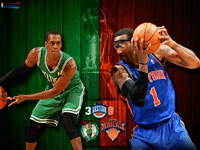 Celtics vs Knicks 2011 NBA Playoffs Widescreen Wallpaper