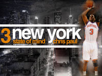 Chris Paul New York Knicks Widescreen Wallpaper
