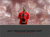 Derrick Rose 2011 MVP Award Widescreen Wallpaper