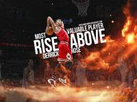 Derrick Rose 2011 MVP Dunk Widescreen Wallpaper
