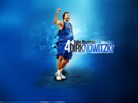 Dirk Nowitzki Mavs Playoffs Widescreen Wallpaper