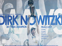 Dirk Nowitzki 2011 NBA Finals MVP Stats Widescreen Wallpaper