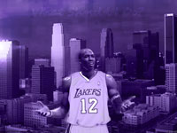Dwight Howard LA Lakers Uniform Widescreen Wallpaper