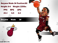 Dwyane Wade Drawn Dunk Widescreen Wallpaper