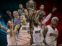 Heat - Mavs 2011 NBA Finals Widescreen Wallpaper