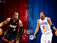 Heat vs 76ers 2011 NBA Playoffs Widescreen Wallpaper