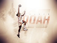 Joakim Noah Bulls Dunk Widescreen Wallpaper