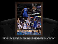Kevin Durant Dunk Over Brendan Haywood Widescreen Wallpaper