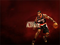 LaMarcus Aldridge TrailBlazers Widescreen Wallpaper