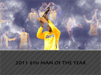 Lamar Odom 2011 6th Man Trophy Widescreen Wallpaper