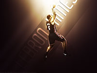 LeBron James Heat Dunk Widescreen Wallpaper