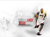 LeBron James Miami Heat Widescreen Wallpaper