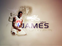 LeBron James USA Team Wide Screen Wallpaper