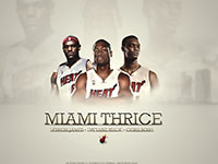 LeBron Wade Bosh Miami Heat Widescreen Wallpaper