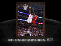 Luol Deng Dunk Over LeBron James Widescreen Wallpaper