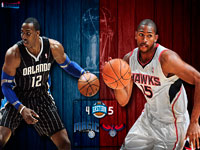Magic vs Hawks 2011 NBA Playoffs Widescreen Wallpaper