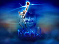 Manu Ginobili Spurs Layup Widescreen Wallpaper