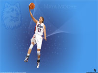 Maya Moore UCONN Huskies Widescreen Wallpaper