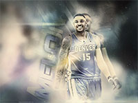 Melo Nuggets In Space Widescreen Wallpaper