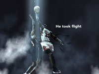 Michael Jordan Playoffs 98 Dunk Over Gill Widescreen Wallpaper