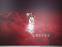 Michael Jordan Sky Dunk Widescreen Wallpaper