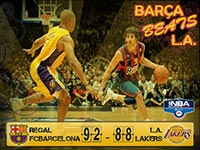 Regal FC Barcelona Beat LA Lakers 2010 Wallpaper