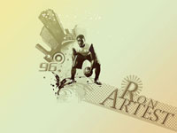 Ron Artest Dribbling Wallpaper