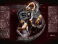 San Antonio Spurs 2010-2011 Calendar Wallpaper