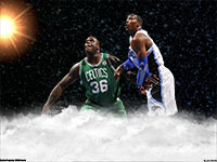 Shaq vs Dwight Howard Widescreen Wallpaper