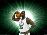 Shaquille O'Neal Celtics 2010 Widescreen Wallpaper