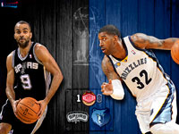 Spurs vs Grizzlies 2011 NBA Playoffs Widescreen Wallpaper