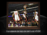 Taj Gibson Dunk Over Dwyane Wade Widescreen Wallpaper